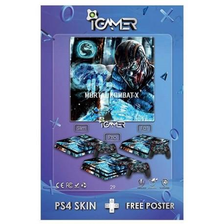 Ps4 Skin For Slim Mortal Kombat X Design