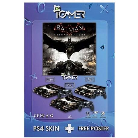 Ps4 Skin For Slim Batman Arkham Knight Design