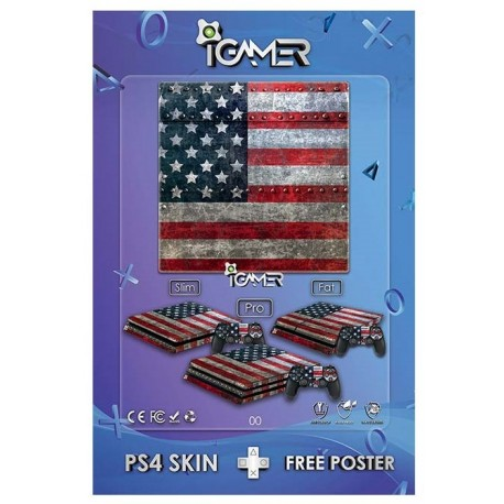 Ps4 Skin For Slim USA Design